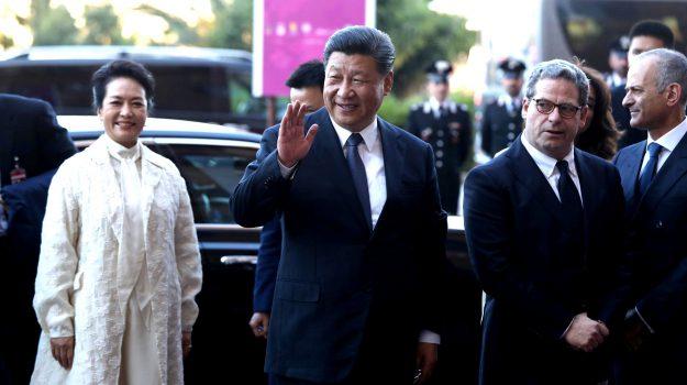 presidente cinese a palermo, Peng Liyuan, Xi Jinping, Sicilia, Cronaca
