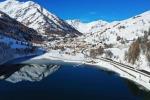 Riemerge la borgata fantasma da lago Pontechianale