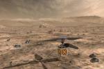 Rappresentazione artistica del piccolo elicottero marziano, simile a un drone, che la Nasa è pronta a fare sbarcare su Marte con la missione Mars 2020 (fonte: NASA/JPL-Caltech)
