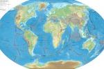Mappa delle placche tettoniche (fonte: Wikipedia)