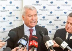 """Crescita, Sangalli: """"Investimenti e lotta all'evasione per scongiurare aumento dell'Iva"""" Le richieste del presidente di Confcommercio durante l'inaugurazione del forum annuale a Cernobbio - LaPresse"""