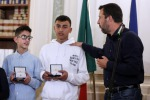 Salvini meets terror bus boy heroes