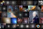Una carrellata degli oggetti celesti contenuti nel catalogo pubblicato nel 1774 dal Charles Messier (nel riquadro) visti dal telescopio spaziale Hubble (fonte: NASA/Hubble Team)