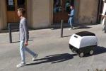 Entra in servizio il primo robot carrello della spesa