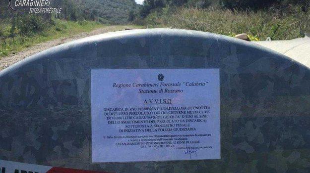 corigliano olivellosa, percolato, sequestro discarica, Cosenza, Calabria, Cronaca