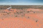 Rappresentazione artistica del radiotelescopio Ska (fonte: SKA Organisation)