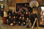 L'inaugurazione di un murale ai Quartieri Spagnoli di Napoli