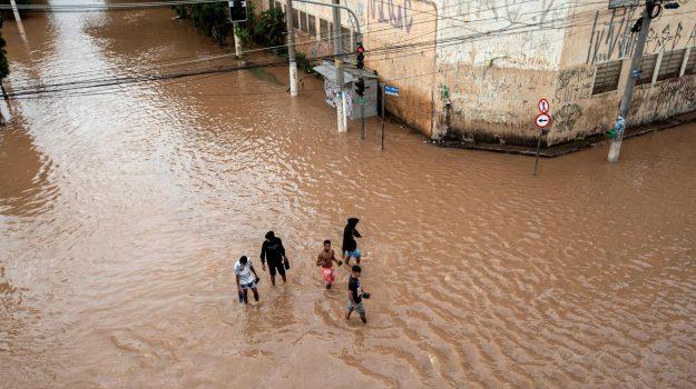 inondazione brasile, maltempo san paolo, Sicilia, Mondo