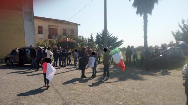 corigliano-rossano, esondazione del Crati, protesta corigliano rossano, Cosenza, Calabria, Cronaca