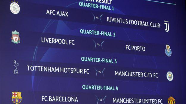 europa league, juventus, napoli, sorteggio champions league, Sicilia, Sport