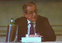 Tria: «L'Italia tornerà a crescere, bisogna eliminare le incertezze sugli investimenti per le infrastrutture» Il ministro dell'Economia al Board Forum Spencer Stuart - LaPresse