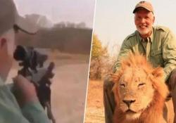 Uccide il leone che sta dormendo: il filmato che indigna la rete Gogna sul web per il protagonista del video, che risale a qualche anno fa - CorriereTV