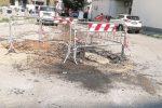 Corigliano, liquami fognari in strada: si rischia l'emergenza sanitaria