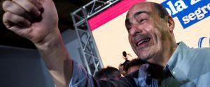 I candidati alle primarie del Pd Roberto Giachetti, Maurizio Martina e Nicola Zingaretti
