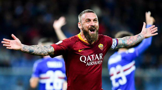 roma calcio, sampdoria, Daniele De Rossi, Sicilia, Sport