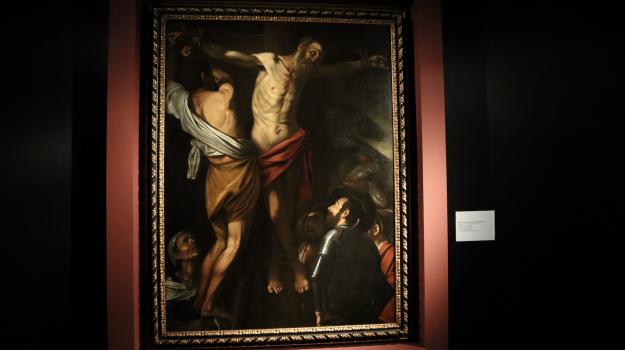 caravaggio, Crocifissione di Sant'Andrea, mostra, Sicilia, Cultura