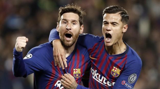 barcellona-manchester united, champions league, Lionel Messi, Sicilia, Sport