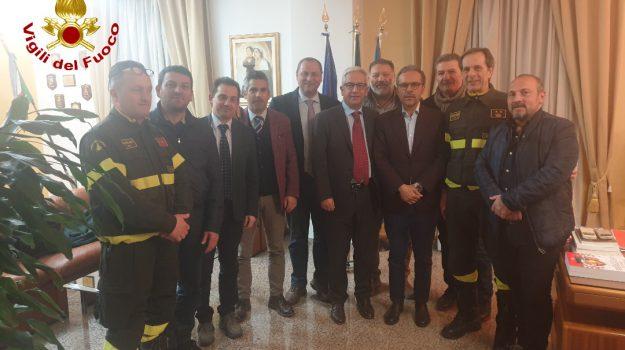 caserma di Rende, lavori di costruzione, Vigili del Fuoco di Cosenza, Marcello Manna, Massimo Cundari, Cosenza, Calabria, Cronaca