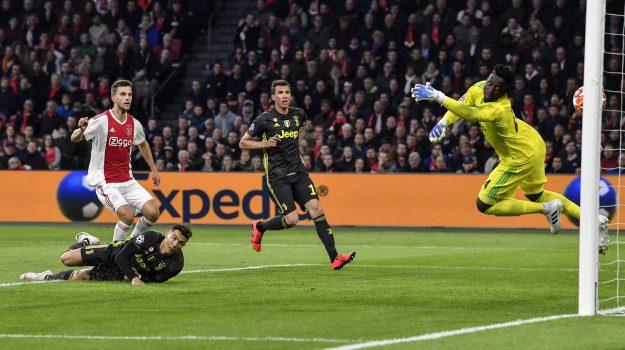 Ajax-Juventus, champions league, Cristiano Ronaldo, Sicilia, Sport