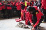 Prove di evacuazione della funivia di Taormina: le foto della simulazione