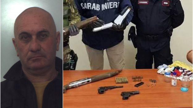 armi clandestine, arrestato 61enne di Gerace, carabinieri di Locri, ricettazione, Domenico Antonio Panetta, Reggio, Calabria, Cronaca