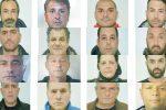 """I 31 arresti a Vibo, l'arsenale dei Piscopisani e le pistole come """"regali"""" di compleanno - Nomi e foto"""