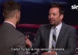 """Epcc, Alessandro Cattelan nello studio di Jimmy Fallon Il conduttore del Tonight Show: """"Sei la mia versione italiana"""" - LaPresse"""