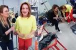 La reporter distrugge la scultura dell'artista durante l'intervista