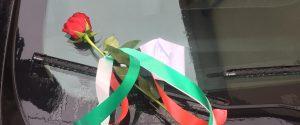 """Carabiniere ucciso, a Vibo una rosa e un biglietto lasciati su una """"gazzella"""""""