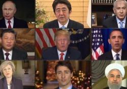 Trump, Putin e i leader del mondo cantano «Imagine» Il curioso montaggio video ideato da una società di software - CorriereTV