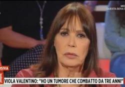 Viola Valentino in tv: «Ho un tumore, ma lotto e a settembre mi sposo» La rivelazione a «Storie Italiane»: «Circa tre anni fa mi hanno detto che avevo un carcinoma e bisognava operare d'urgenza. Ho avuto la fortuna di prenderlo in tempo» - LaPresse