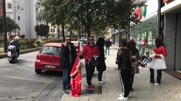 apertura negozi, messina, volantinaggio sindacati, Messina, Sicilia, Cronaca