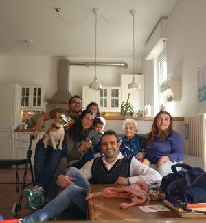 Ellen Palomba con figlia, nipoti e pronipoti
