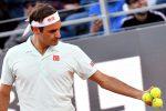 Federer si ritira dagli Internazionali d'Italia, infortunio alla gamba destra