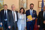Luigi Gaetti, Nicola Morra e i parlamentari 5 stelle Grazia D'Angelo e Antonio De Luca