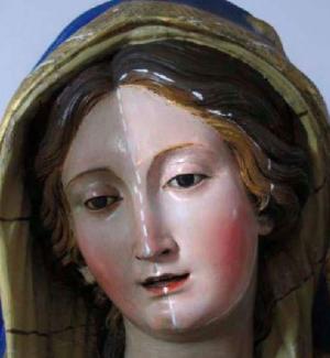 """Siderno, il volto """"ritrovato"""" della Madre: restaurata la scultura lignea di Portosalvo"""