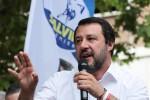 Il ministro dell'Interno e vice premier Matteo Salvini