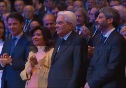 Assemblea Confindustria, standing ovation per Mattarella Assemblea Confindustria, standing ovation per Mattarella - AGTW