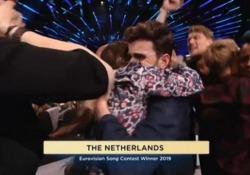 """Eurovision song 2019: vince l'Olanda ma Mahmood è secondo Il trionfo di Duncan Laurence con il brano """"Arcade"""". L'italiano staccato di soli 27 voti - LaPresse"""
