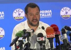 """Fca- Renault, Salvini: """"Se Fiat cresce è una buona notizia per l'Italia, ma tutelare i posti"""" Lo ha detto il leader della Lega in conferenza stampa in Via Bellerio - LaPresse"""