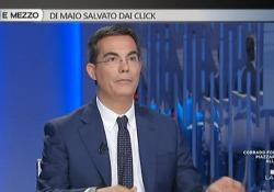 Floris al posto della Gruber a «Otto e Mezzo»: «Non ho sbagliato sedia...» L'ironia del conduttore che ha sostituito la collega impegnata all'estero per due serate - CorriereTV