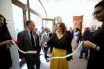 L'inaugurazione della mostra al museo Marca