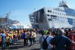 Da Civitavecchia a Palermo contro le mafie: 1500 studenti a bordo della Nave della Legalità