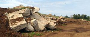 Gli inerti abbandonati nell'area sottoposta a vincolo archelogico