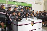 """I giocatori del Palermo durante la conferenza stampa presso il centro sportivo """"Tenete Onorato"""""""
