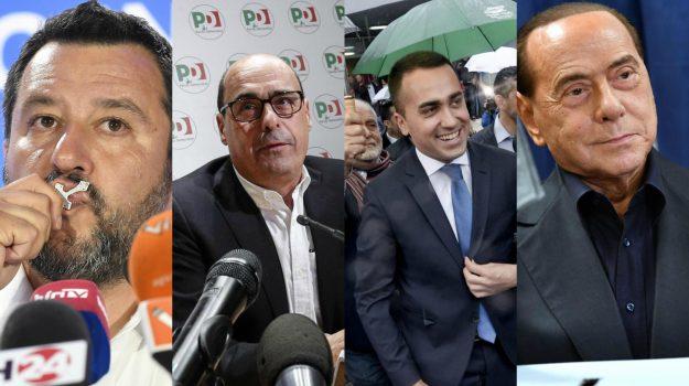 elezioni europee, parlamento europeo, Beppe Grillo, Luigi Di Maio, Matteo Salvini, Nicola Zingaretti, Riccardo Molinari, silvio berlusconi, Sicilia, Politica