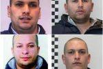 Spaccio di droga nella via Stretto Antico a Catanzaro, definitive 4 condanne: nomi e foto