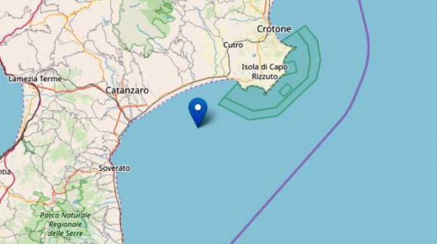 costa ionica, ingv, terremoto catanzaro, Catanzaro, Calabria, Cronaca