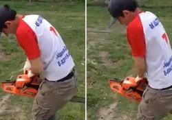 Vero a falso? Ecco come non avviare una motosega Utilizzare una motosega può essere un'operazione pericolosa - CorriereTV