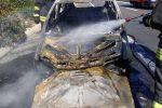Auto in fiamme sulla Palermo-Catania, paura per una donna allo svincolo di Trabia - Foto